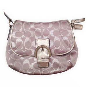COACH silver grey soho crossbody swimgpack bag
